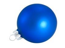 De blauwe bal van Kerstmis voor decoratieKerstboom Stock Afbeeldingen