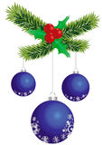 De blauwe ballen van Kerstmis royalty-vrije stock afbeeldingen