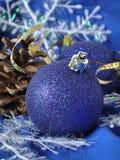 De blauwe ballen van Kerstmis Royalty-vrije Stock Afbeelding