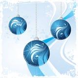 De blauwe ballen van Kerstmis   Stock Illustratie