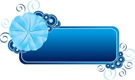 De blauwe Banner van de Bloem Stock Foto