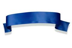 De blauwe Banner van het Lint Royalty-vrije Stock Foto's