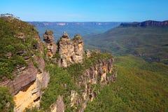 De blauwe bergen in Australië Royalty-vrije Stock Afbeelding