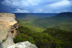De blauwe bergen in Australië Stock Foto's