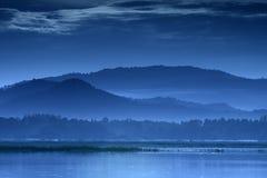De blauwe bergen in Thailand stock fotografie