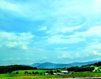 De blauwe Bergen van de Rand stock afbeeldingen