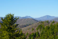 De blauwe Bergen van de Rand Stock Foto