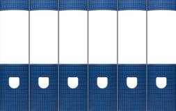 De blauwe Bindmiddelen van het Bureau Stock Foto's