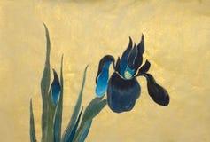 De blauwe Bloemen van de Iris royalty-vrije illustratie