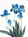 De blauwe Bloemen van de Iris vector illustratie