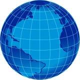 De blauwe bol van het streepwoord Royalty-vrije Stock Afbeeldingen