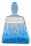 De blauwe Borstel van de Verf (Vooraanzicht) Royalty-vrije Stock Foto's