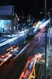 De blauwe Boulevard van het Onduidelijke beeld stock afbeeldingen