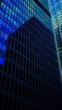De blauwe Bouw van het Bureau royalty-vrije stock fotografie