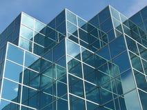 De blauwe Bouw van het Bureau stock afbeelding
