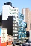 De Blauwe Bouw van Manhattan Stock Foto