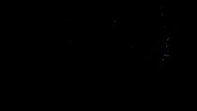De blauwe brand flakkert omhoog en verdwijnt weg, met alpha- masker langzaam vector illustratie