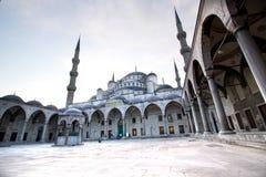 De blauwe buitenmening van de Moskee royalty-vrije stock afbeelding