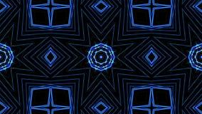 De blauwe caleidoscoop van lijnenmoties stock illustratie