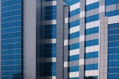 De blauwe collectieve bouw Stock Afbeeldingen
