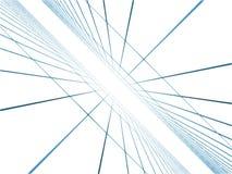 De blauwe computer geproduceerde netten van de fantasie Stock Afbeelding
