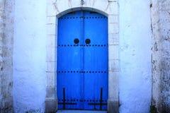 De blauwe deur van Cyprus Royalty-vrije Stock Afbeelding