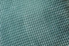 De blauwe diagonale textiel, sluit omhoog Hoogste mening Abstract geruit patroon Royalty-vrije Stock Afbeeldingen