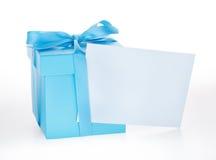 De blauwe Doos van de Gift Royalty-vrije Stock Fotografie