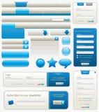De blauwe Elementen van het Ontwerp van de Website Royalty-vrije Stock Foto