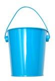 De blauwe emmers van het metaal Stock Foto's