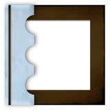 De blauwe en bruine dekking van het fotoalbum Stock Foto's