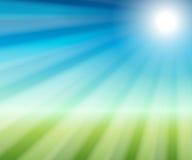 Abstracte blauwe en groene achtergrond Stock Fotografie