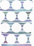 De blauwe en purpere illustratie, koelt en het brandmerken textuur uit de vrije hand die op de strepen van de waterverfgradiënt o Royalty-vrije Stock Fotografie