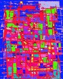 De Blauwe en Rode Achtergrond van Grunge Stock Afbeeldingen