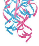 De blauwe en roze linten van de pastelkleur Royalty-vrije Stock Foto