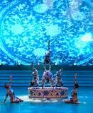 De blauwe en witte porselein-acrobatiek-algemene Vakbonds` s Dag van de Arbeid toont Royalty-vrije Stock Afbeeldingen
