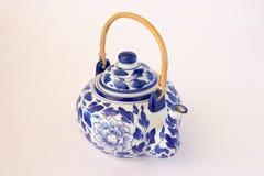 De blauwe en Witte Theepot van China Royalty-vrije Stock Afbeeldingen