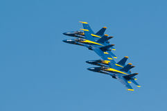 De blauwe Engel toont Stock Foto's
