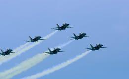 De blauwe Engelen 10 Juli, de lucht van 2009 tonen Stock Fotografie