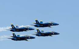 De Blauwe engelen van het Eskader van de Demonstratie van de Marine van de V.S. royalty-vrije stock afbeeldingen