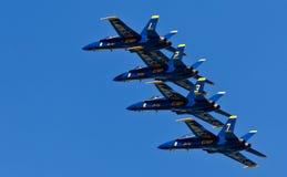 De Blauwe engelen van het Eskader van de Demonstratie van de Marine van de V.S. Stock Foto