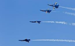 De Blauwe engelen van het Eskader van de Demonstratie van de Marine van de V.S. royalty-vrije stock afbeelding
