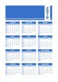 De blauwe Engelse kalender van 2019 royalty-vrije illustratie