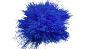 De blauwe explosie van de poederbal op witte achtergrond vector illustratie