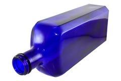 De blauwe Fles van Cobale Stock Afbeeldingen