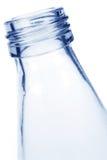 De blauwe Fles van het Glas Stock Foto's