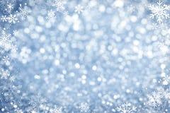 De blauwe Fonkelende Achtergrond van Lichten Royalty-vrije Stock Foto