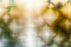 De blauwe Gele Magische Abstracte Achtergrond van de Fantasie Royalty-vrije Stock Fotografie