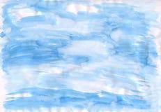 De blauwe getrokken hemel op papier Stock Afbeelding