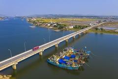 De blauwe Gianh-rivier royalty-vrije stock foto's